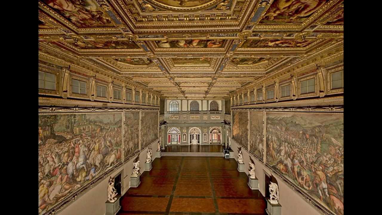In duomo & piazza della signoria. Palazzo Vecchio Salone dei Cinquecento - YouTube