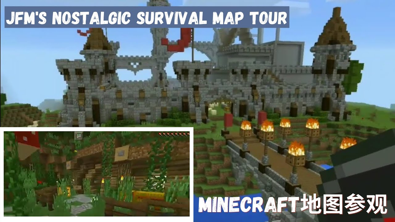 minecraft pe 1 0 2  u5730 u56fe u53c2 u89c2 map tour jackfrostminer u0026 39 s ep 120 survival let u0026 39 s play world