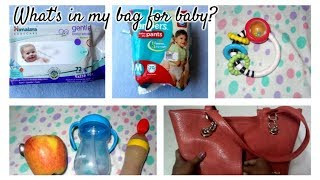 What's in my bag for baby?