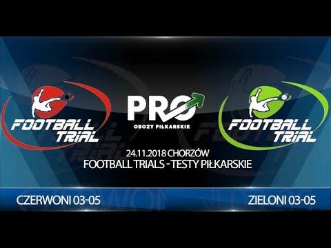 Skrót meczu: Football Trials - Testy Piłkarskie r.03-05, Chorzów 25.11.2018