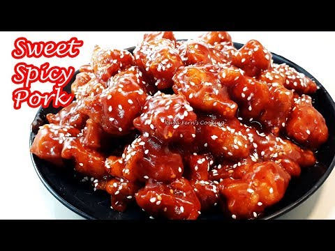 THE BEST SWEET AND SPICY CRISPY FRIED PORK RECIPE | BETTER THAN TAKE OUT | SUPER YUMMY!!!
