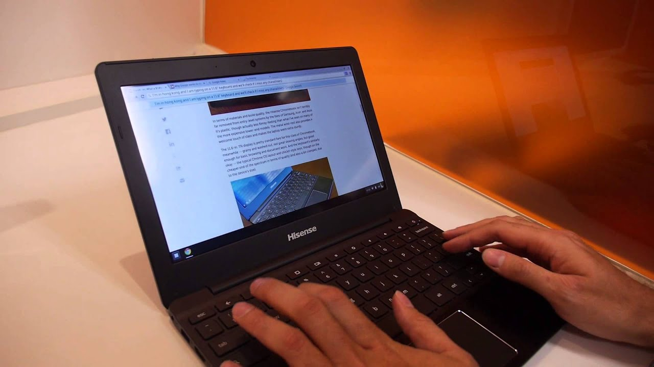 $149 Hisense RK3288 Chromebook Hands-on Multi-Tab Web Browsing Test
