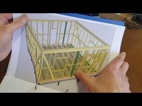 Конструктивный план для строительства каркасного дома