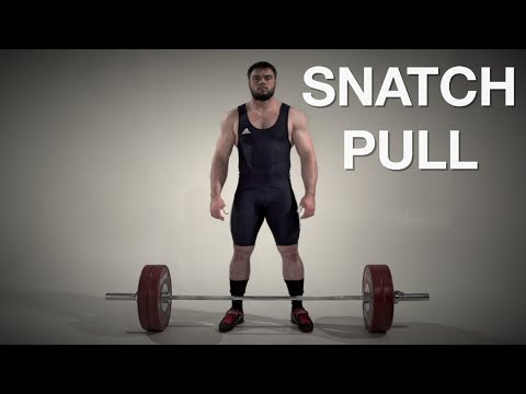 Snatch PULL / weightlifting & crossfit