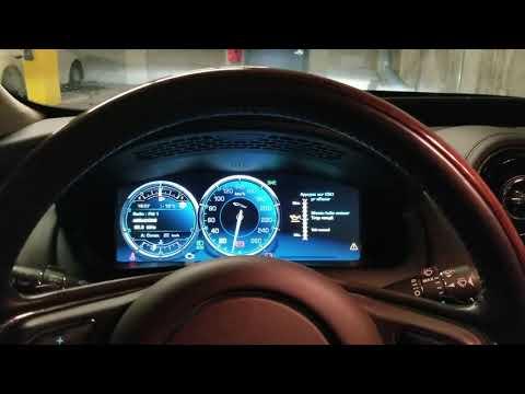 Ягуар (Jaguar XJL) проверить уровень масла и скрытое меню.