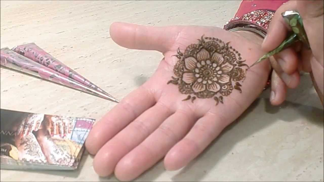 Easy Mehndi Tutorial : Quick and easy mehndi henna mandela design tutorial by toronto