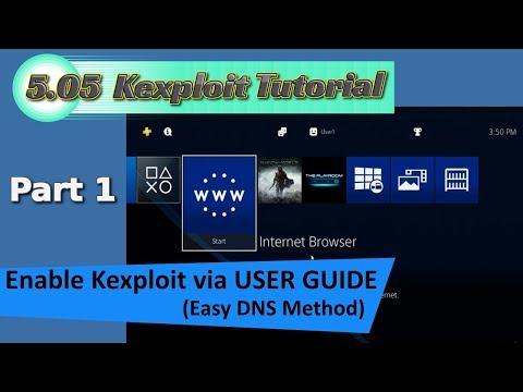 "PS4 5.05 Kexploit ""jailbreak"" Tutorial PT1 - Run Kexploit via USER GUIDE using DNS"