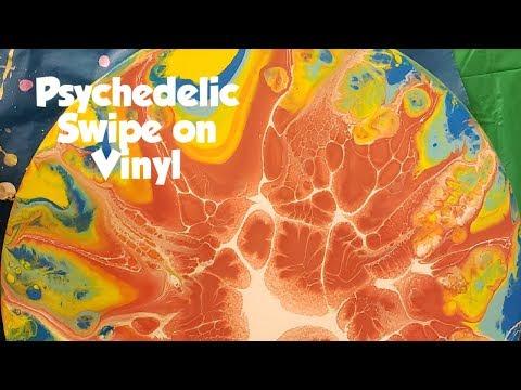 Psychedelic Demogorgon web swipe on vinyl #fluidart #fluidpaint #paintpour #swipe #asmr #DIY