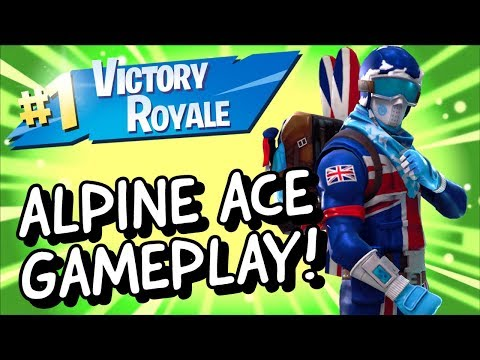 ALPINE ACE Skin Gameplay In Fortnite Battle Royale