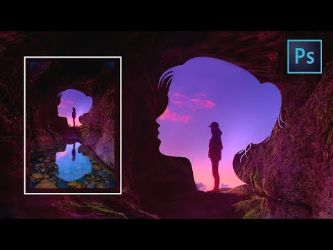 [Photoshop Manipulation] How To Create A Realistic Silhouette Cave Effects In Photoshop CC