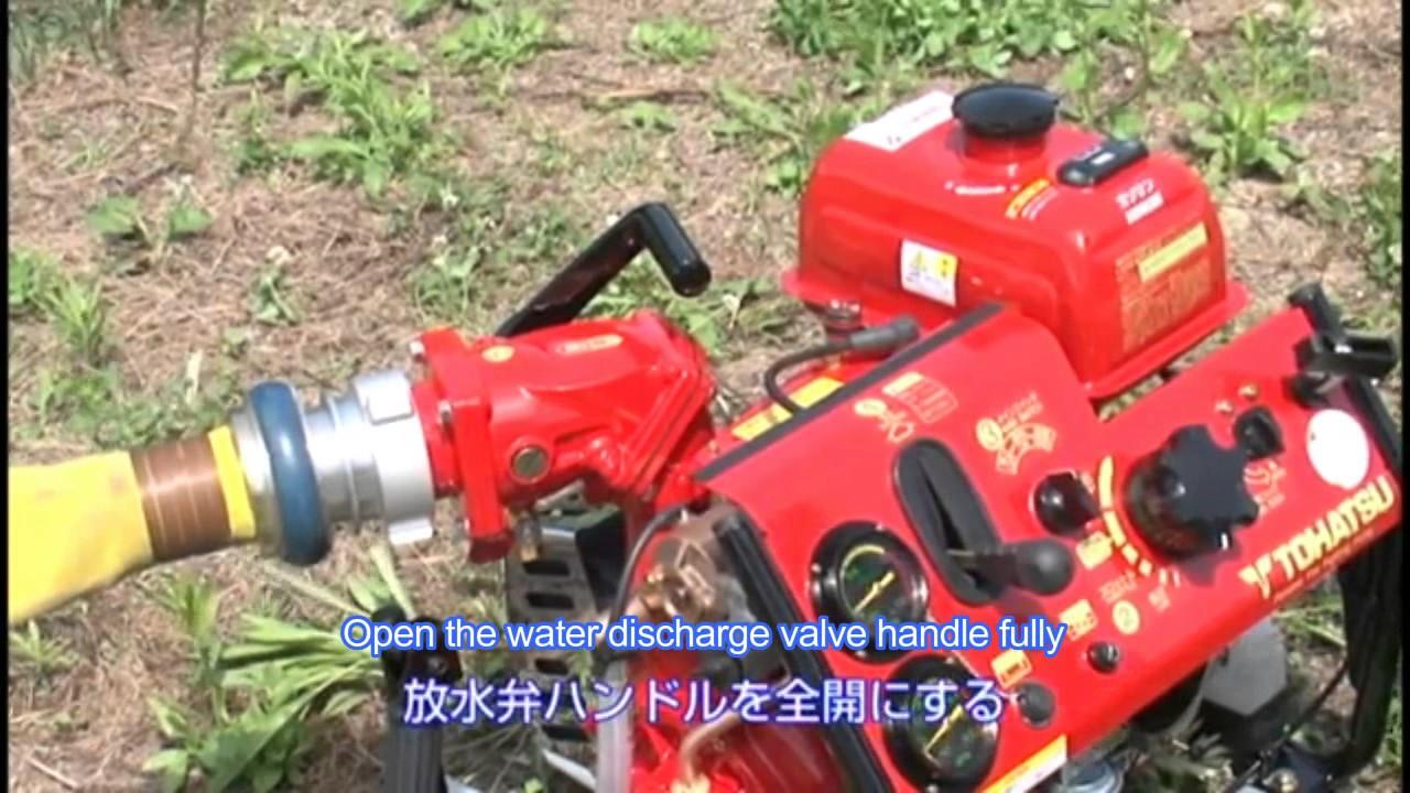 tohatsu firefighter pump v20es manual video youtube rh youtube com tohatsu fire pump parts Gas Pump Manual