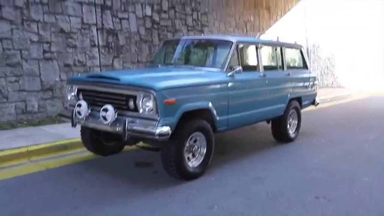 1975 jeep wagoneer for sale youtube. Black Bedroom Furniture Sets. Home Design Ideas