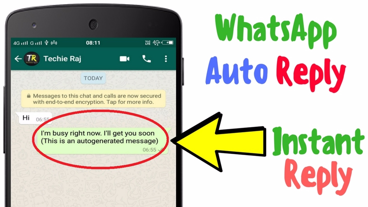 Whatsapp Message Auto Reply How To Use Auto Reply On Whatsapp Youtube