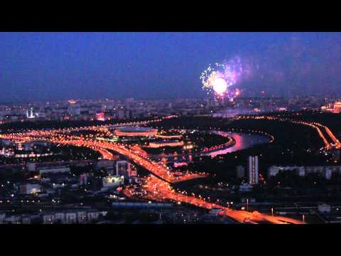 Naberezhnaya Tower Roof (60th floor) Fire Works show 9 of may 2011