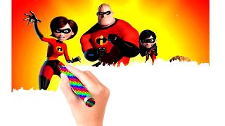 COLORING THE INCREDIBLES 2   | Coloring Pages For Kids - Coloring Book for Baby