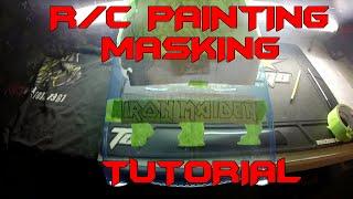 Rc car Design - RC car paint jobs - tutorial masking iron maiden '55 body