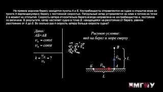 Физика. Выпуск 5. Решение задачи на тему «Кинематика. Относительность скорости движения».