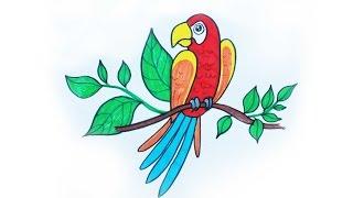 Уроки рисования. Как нарисовать ПОПУГАЯ фломастерами ArtBerry how to draw a parrot(Видео урок для детей Как нарисовать птицу-попугая поэтапно Больше полезной информации о фломастерах ..., 2016-05-20T04:54:36.000Z)