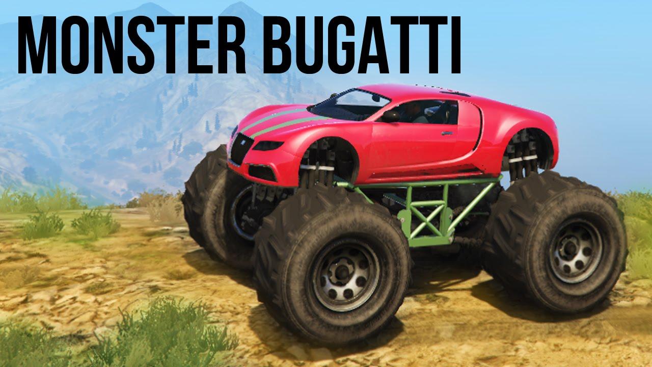 epic monster bugatti 4x4 off road adventure mudding. Black Bedroom Furniture Sets. Home Design Ideas