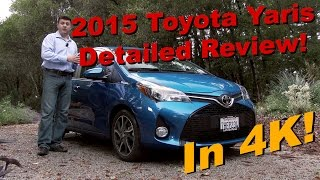 2015 Toyota Yaris 5 Door Detailed Review and Road Test in 4K!