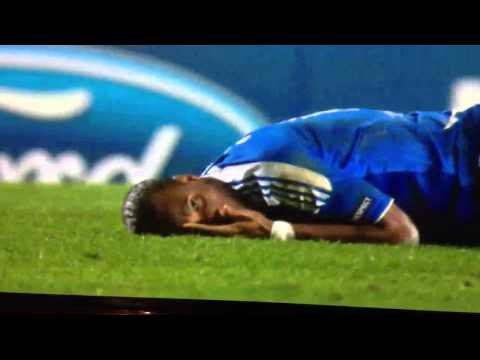 Chelsea V Napoli Drogba Diving And Caught On Camera