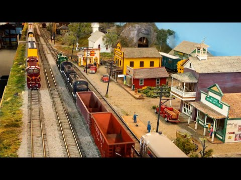 Beautiful Private Model Railroad layout in HO scale 4K UHD