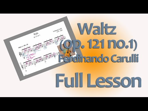 Carulli Waltz in C, op.121 no.1 for Classical Guitar: full lesson