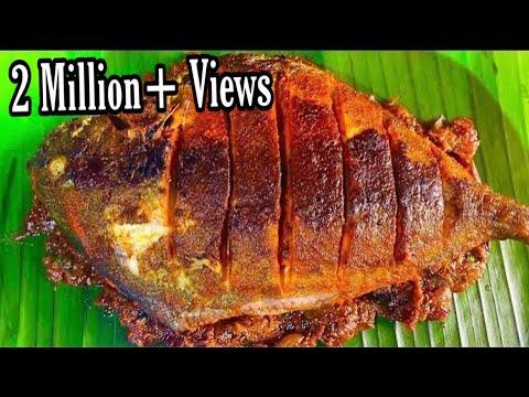 Tamil   Kerala Style MEEN POLLICHATHU Using Pomfret   Best Tasting FISH FRY Recipe