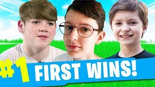 TOP 5 YOUNGEST FORTNITE YOUTUBER'S *1ST VICTORY ROYALE*