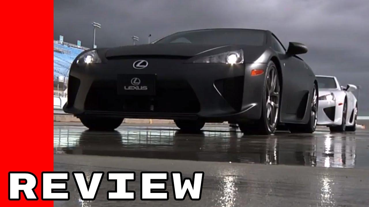 Elegant Lexus LFA Track Review Images