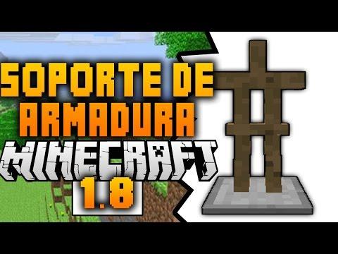 Como Hacer Soporte Para Armadura - Minecraft 1.8 PC - Sin Mods