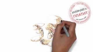 Нарисованные карандашом собаки  Как нарисовать собаку с большими глазами