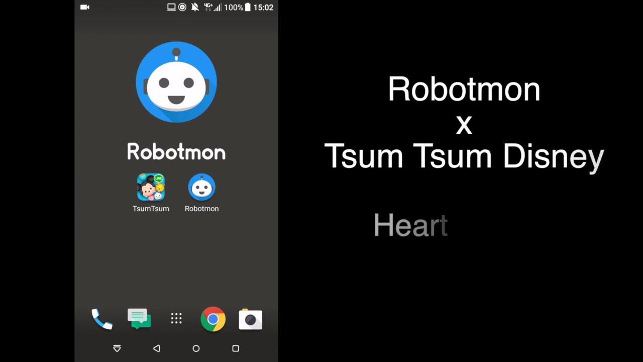 [TsumTsum x Robotmon] Heart Receiver on Robotmon