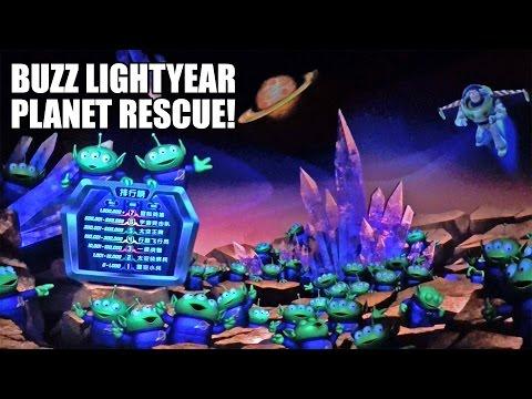 Buzz Lightyear Planet Rescue Dark Ride POV Shanghai Disneyland China