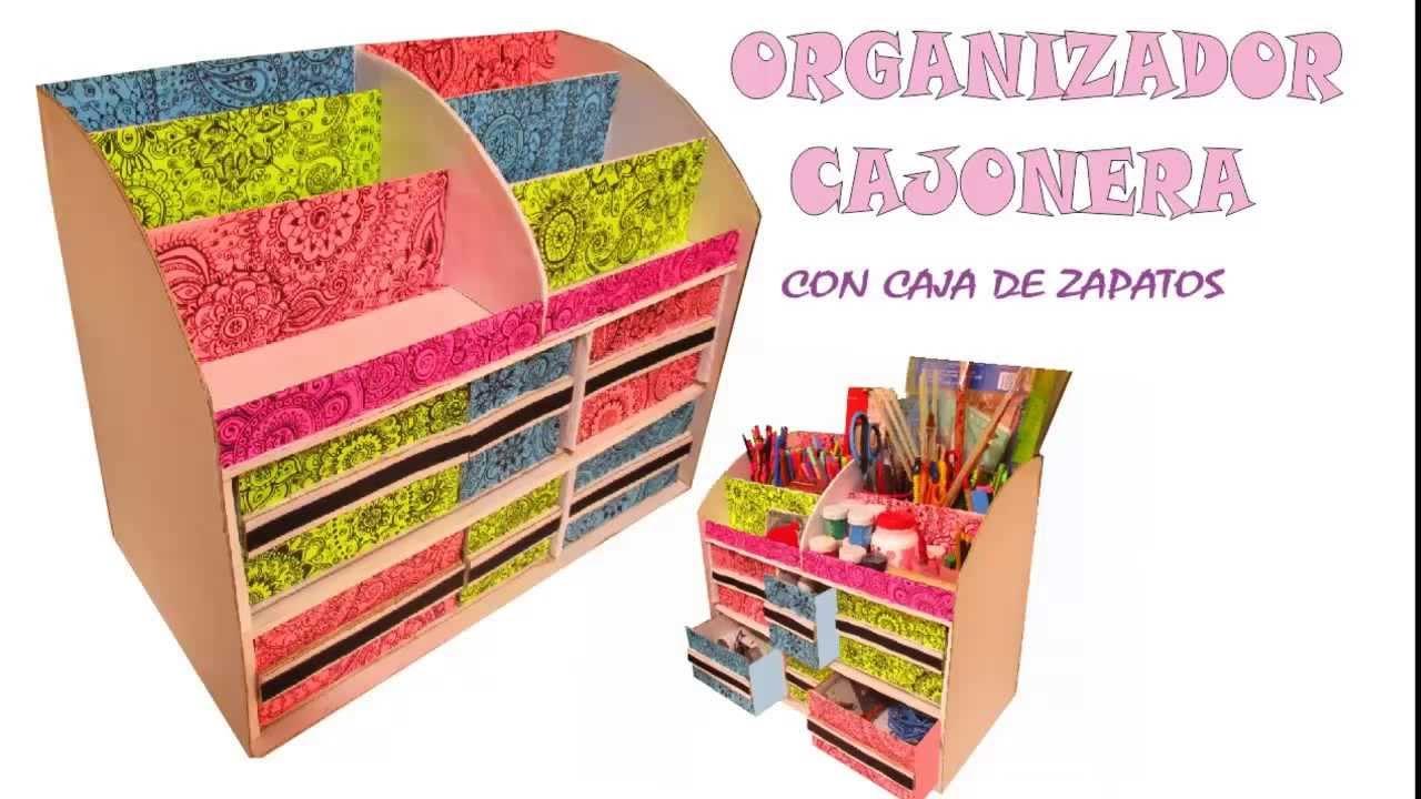 Organizador multiusos con caja de zapatos y carton multipurpose organizer boxes - Organizador de zapatos ...