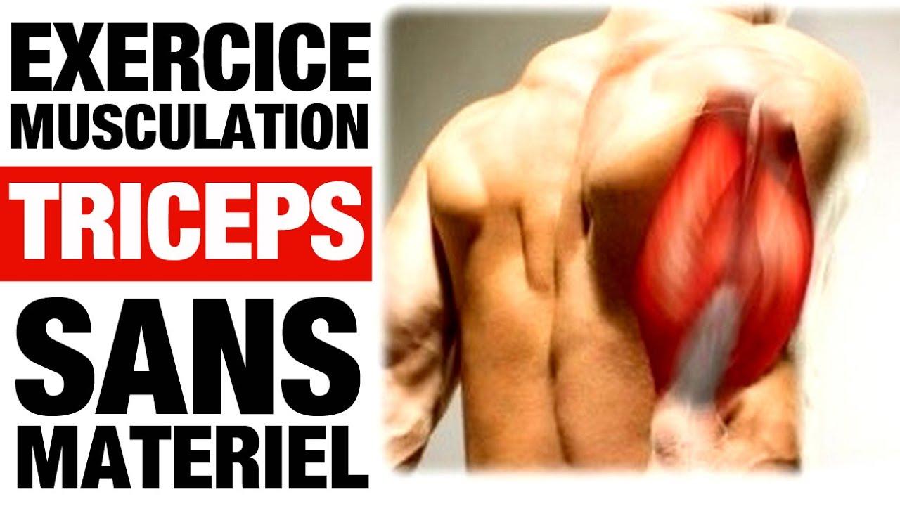 MUSCULATION DES TRICEPS - Exercice Sans Materiel - YouTube