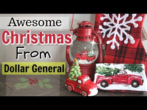 dollar general christmas decor haul 2018 new christmas items shop with me dollar store