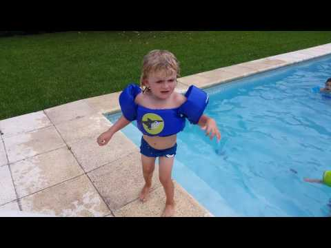 Safety FIRST 👆 | Kids at the Swimming Pool using Puddle Jumpers