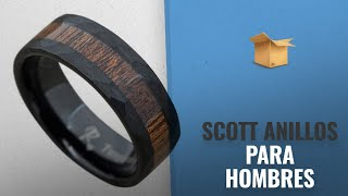 Scott 2018 Mejores Ventas: Randall Scott Jewelers Black Tungsten Wood Ring with Hawaiian Koa Wood
