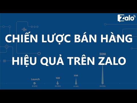 Chiến lược bán hàng hiệu quả trên Zalo
