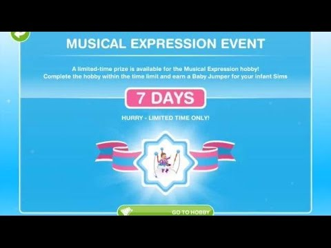 [The Sims Freeplay] - Musical Expression Event Hobisi (Baby Steps -Bebek Adımları- 2.Görev)