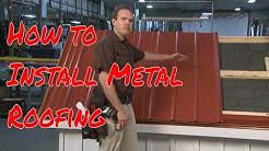 Installing Metal Roofing Panels