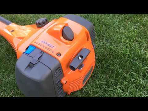 NEW Husqvarna 555RXT Unboxing and first start. Brushcutter Forestry Clearing Saw