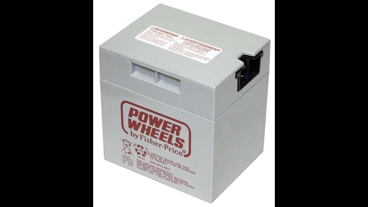 barbie power wheels battery