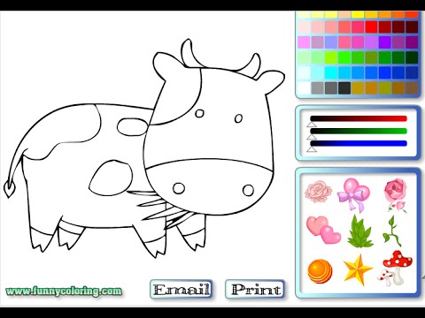 cow coloring pages for kids cow coloring pages youtube