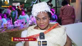 EBENEZER OBEY, ADEWALE AYUBA, FAITHIA BALOGUN ATTEND KING SUNNY ADE'S 70TH BIRTHDAY IN LAGOS