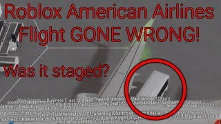 ROBLOX AMERICAN AIRLINES FLIGHT GONE WRONG!