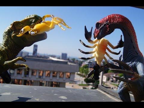 ТИРАННОЗАВР И СКОРПИОНЫ! ВОЛШЕБНЫЕ СИЛЫ! Мультик про динозавров. Видео игрушки