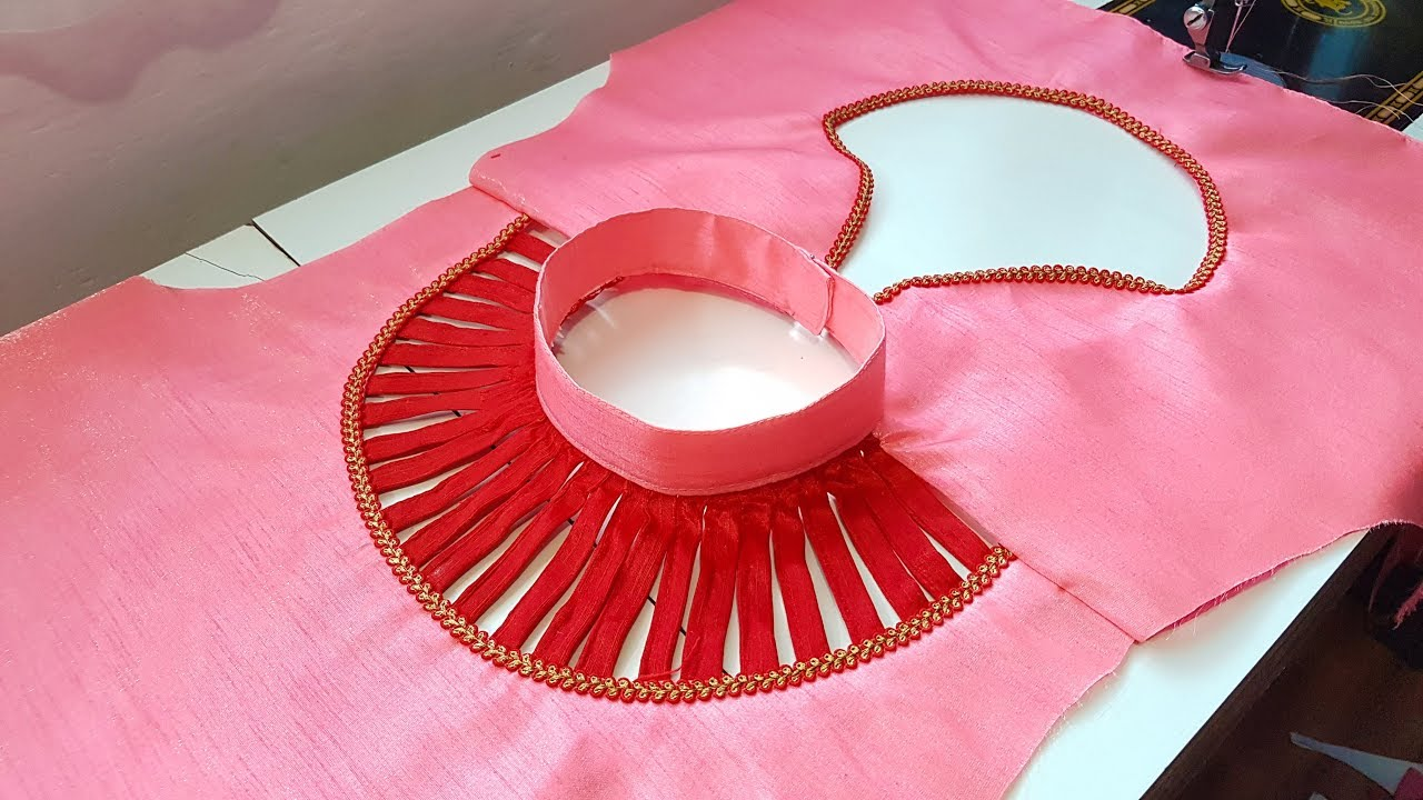 Stylish And Unique High Neck Blouse And Kurti Collar Neck Design Kurti And Blouse Youtube