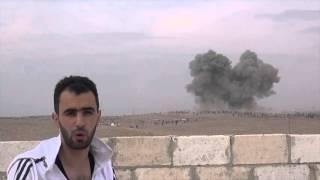 На видео - бомбардировка базы исламистов Jaysh al-Fatah в Kafr Nabl